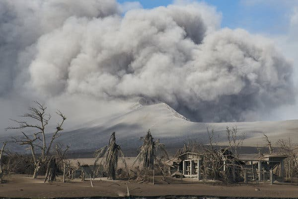 Volcano Erupts in the Philippines